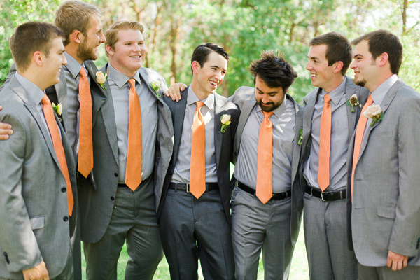 Groomsmen in Custom Wedding Ties | Natty Neckware