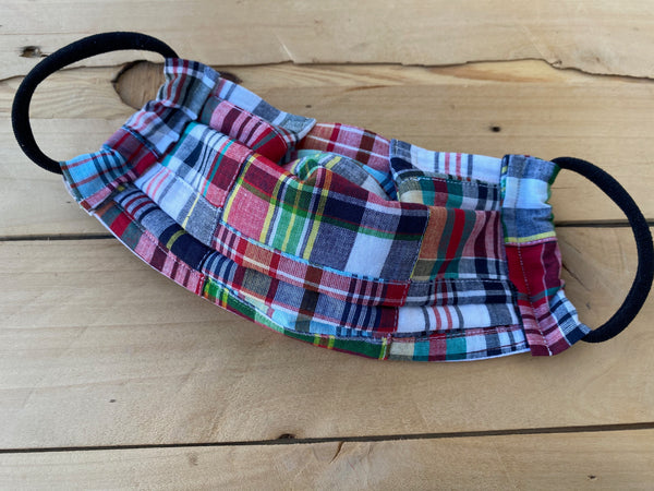 Patchwork Plaid Mask