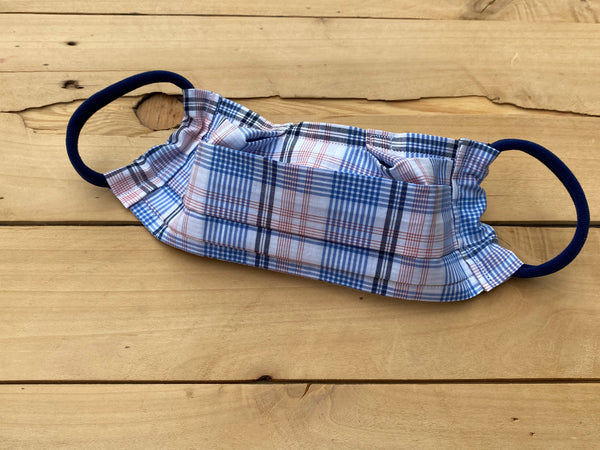 Shirt Plaid Mask