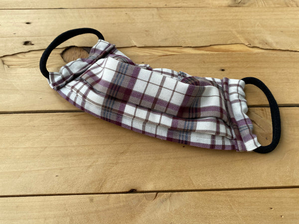 Plum Plaid Mask