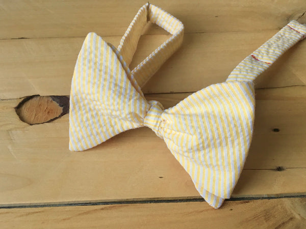yellow seer bow tie
