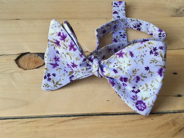 laid back lilac bow tie