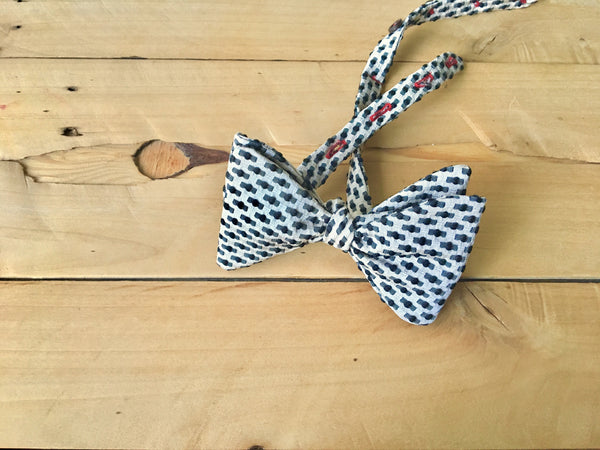 black balled bow tie