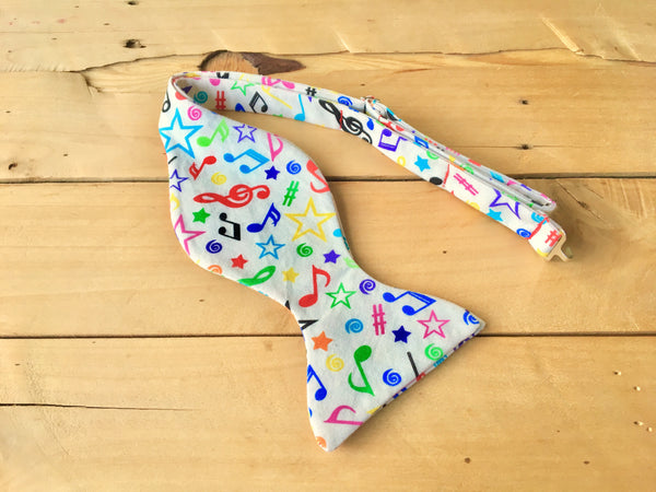 music in color bow tie