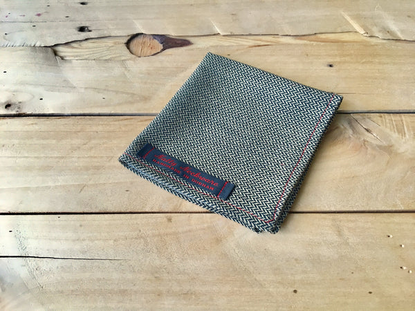 herring-to-the-bone pocket square