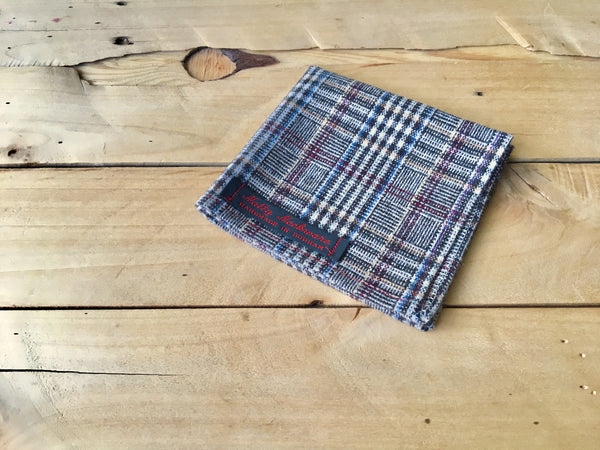 matrix plaid pocket square