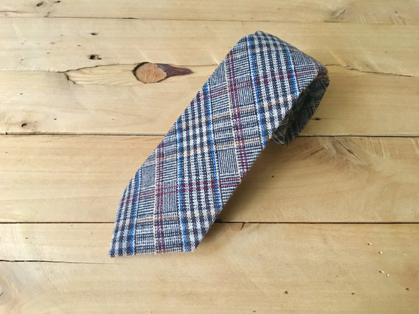 matrix plaid necktie