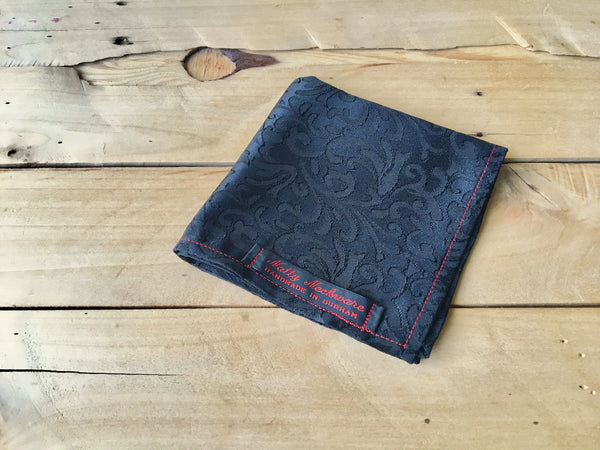 black finesse pocket square