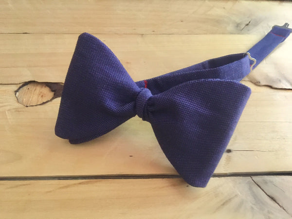 purple linen bow tie