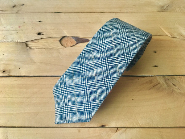 gold stripe glen plaid necktie