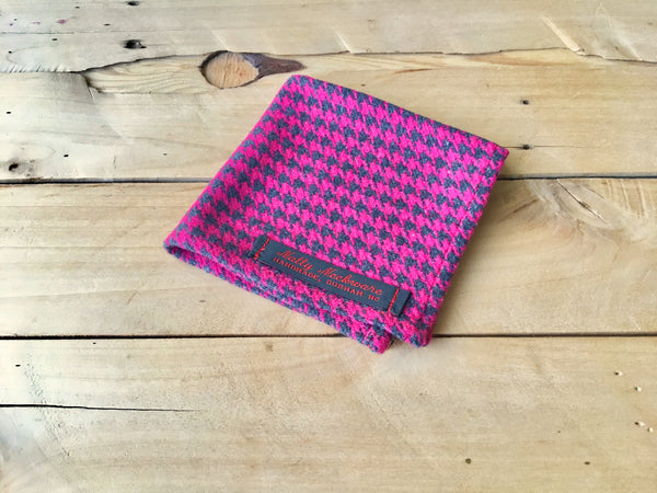 hot houndstooth pocket square