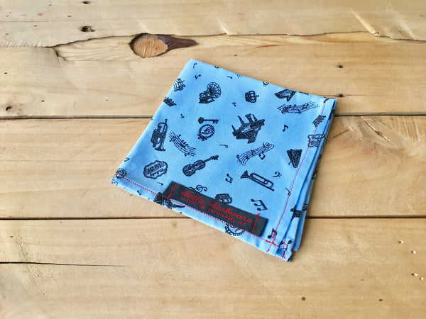 carolina blues pocket square