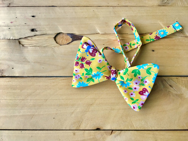 sunny butterfly bow tie