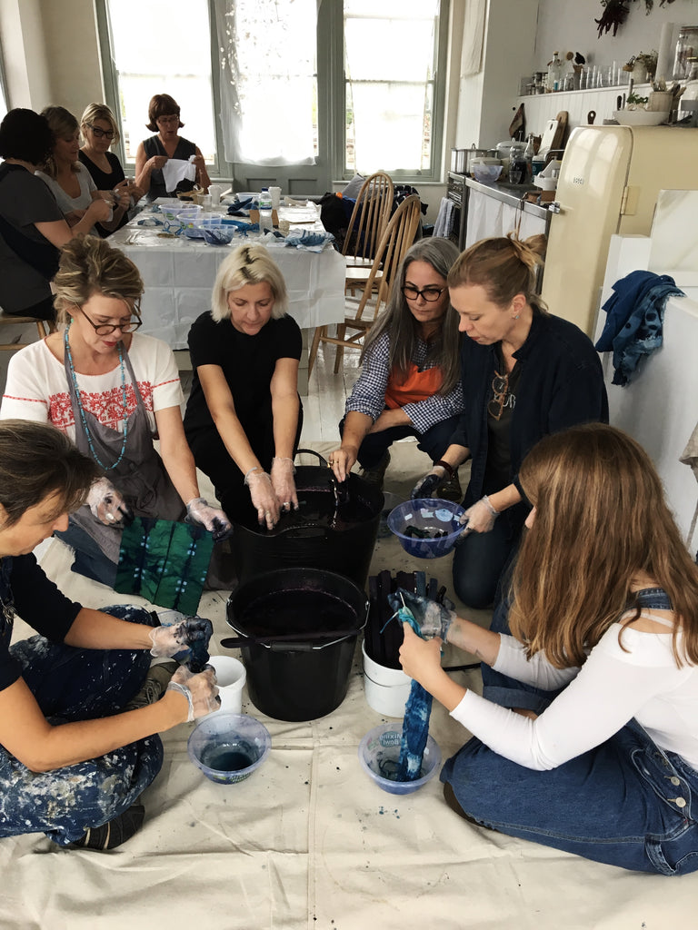 Kathryn Davey Natural dye & Indigo Shibori workshops