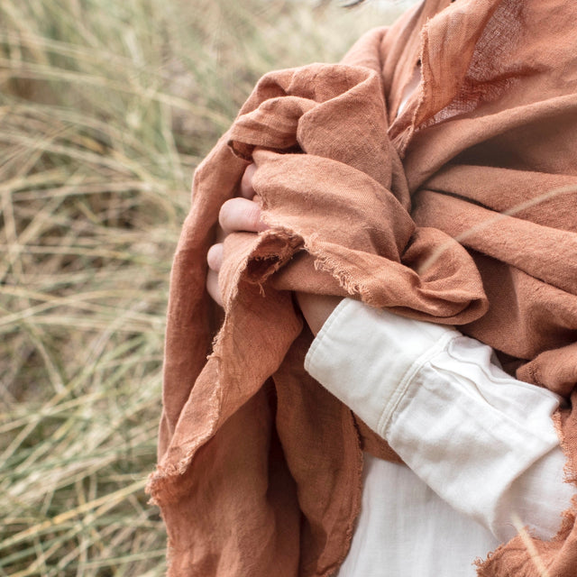 Naturally Dyed Irish Linen Homeware, scarves & Accessories kathryn Davey