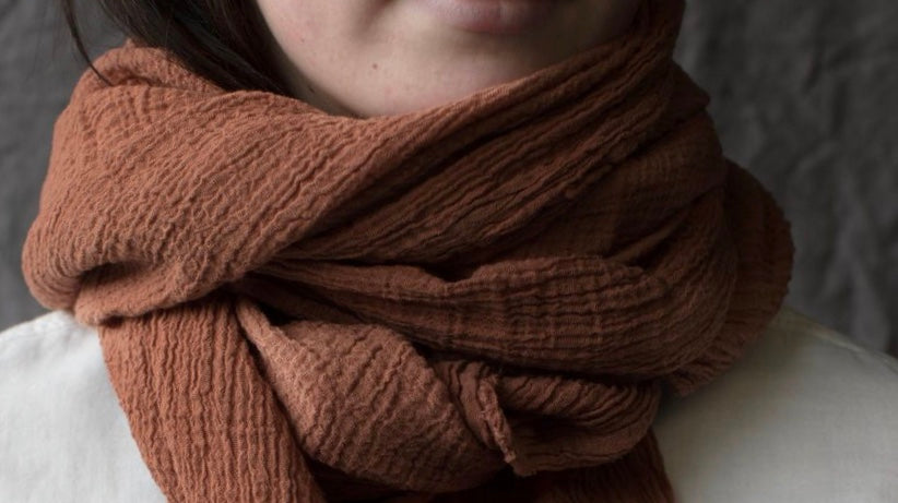 NATURALLY DYED COTTON SCARVES