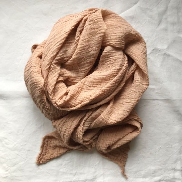 Plant Dyed Scarf in Clay