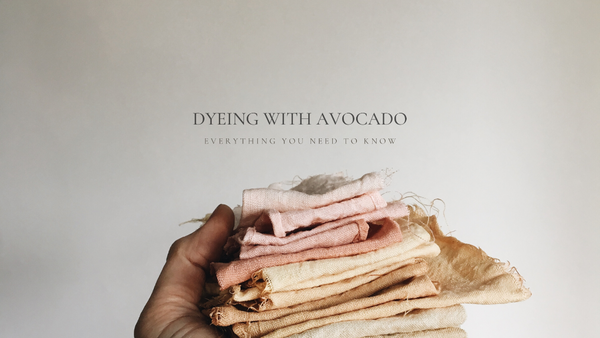 How to Naturally Dye with Avocado Stones eBook