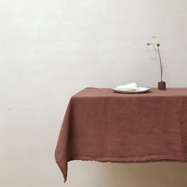 Plant Dyed Linen Tablecloth