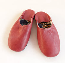 Load image into Gallery viewer, Plain Color Cow Leather Slip-on | Solid Red | Leather Flat Shoes