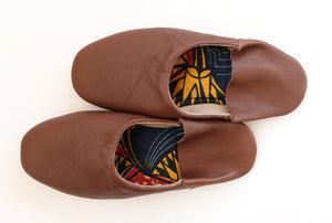 Plain Color Cow Leather Slip-on | Solid Camel | Leather Flat Shoes