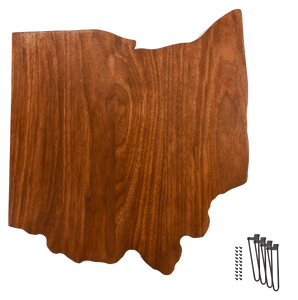 the ohio table solid walnut wood with hairpin legs