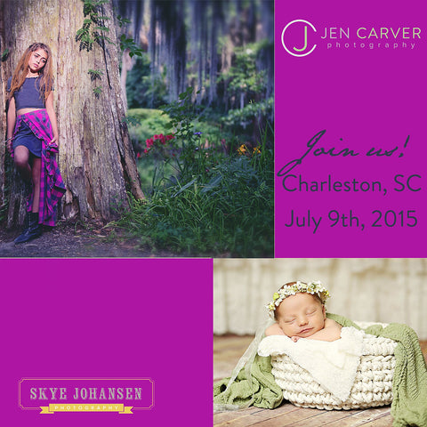 In Person Child Photography Workshop with Jen Carver & Skye Johansen July 9th, 2015 in Charleston, SC