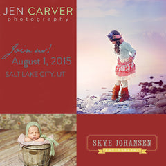 In Person Child Photography Workshop with Jen Carver & Skye Johansen August 1st, 2015 in Salt Lake City Utah