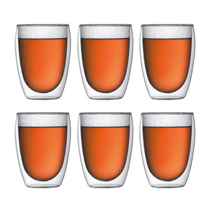 Bodum Pavina Glass - 6 Pack - 8oz or 12oz