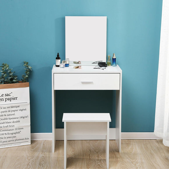 DRESSING TABLE WITH MIRROR+STOOL