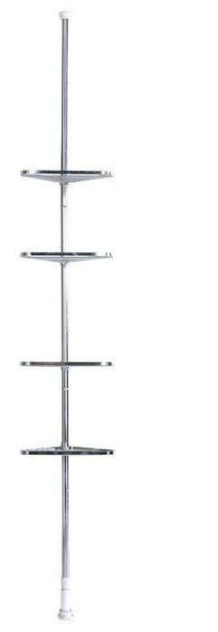 CHROME 4 TIER TELESCOPIC SHOWER ORGANISER