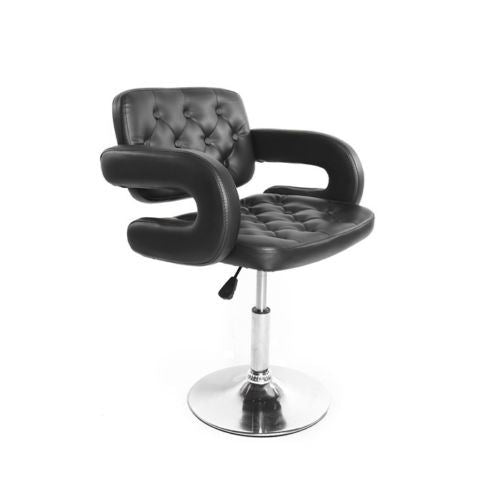 BARBER STYLE CHAIR BAR STOOL BLACK