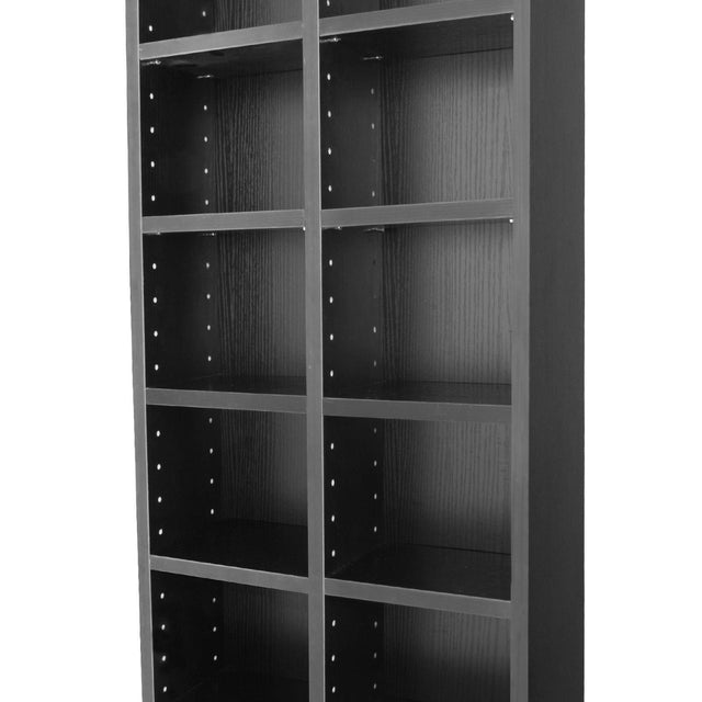 CD STORAGE BOOKCASE - BLACK