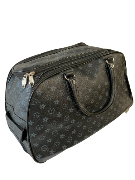 BLACK STAR PRINT WHEELED HOLDALL - SMALL
