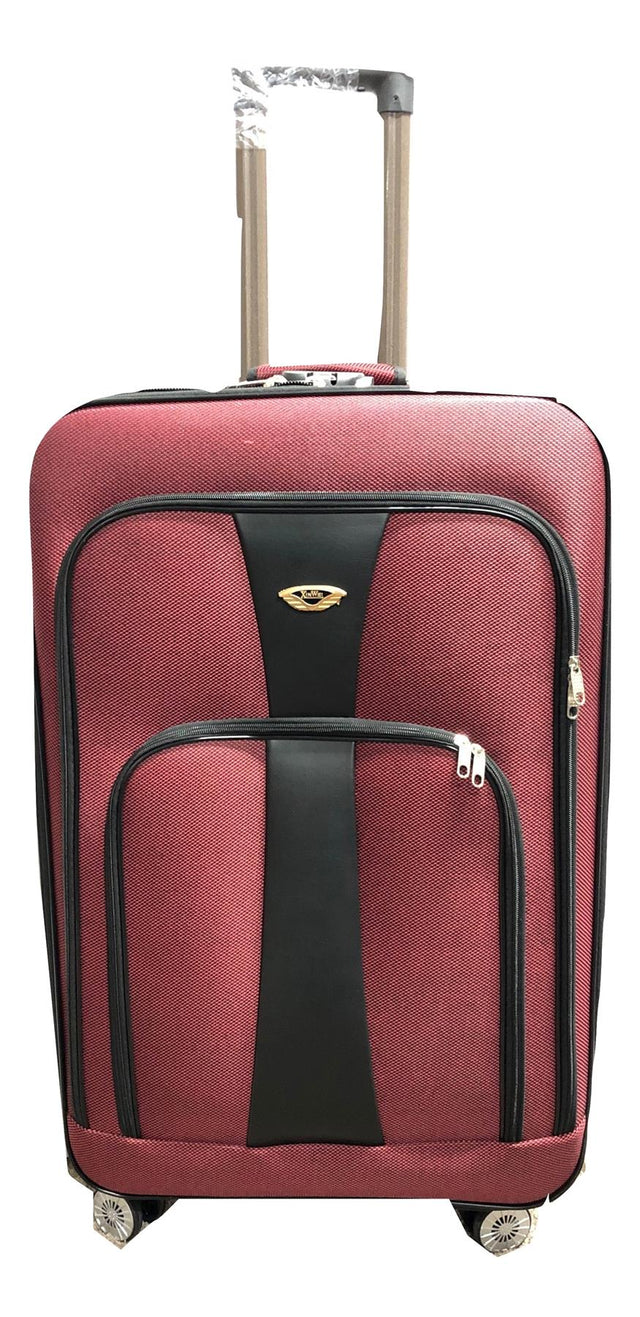 RED NYLON SOFT SUITCASE