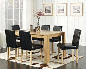 6 CHAIR OAK DINING TABLE