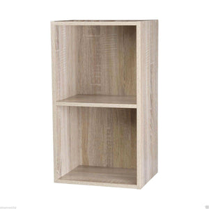 Modern Antique Oak Wooden Storage Display Cube 2 Tier