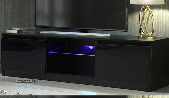LED TV STAND - 120CM BLACK