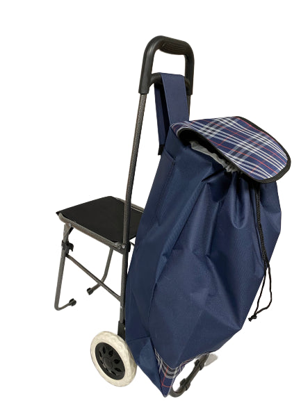 2WHEEL SHOPPING TROLLEY WITH SEAT