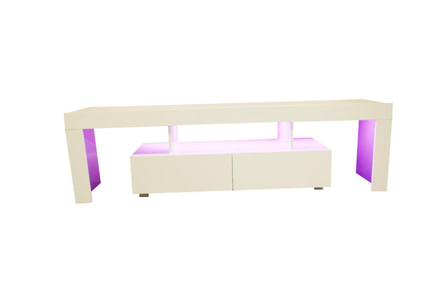 LED TV STAND 160CM - WHITE