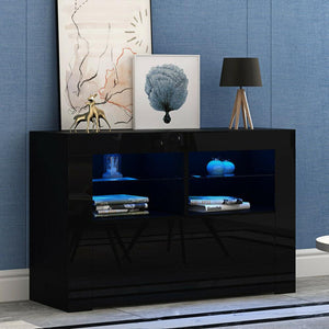 LED TV STAND 100CM - BLACK