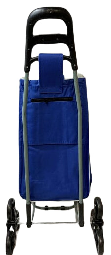 3 WHEEL SHOPPING TROLLEY - BLUE