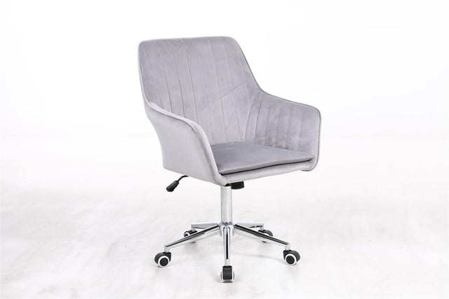 Velvet Swivel + Tilt Office Chair