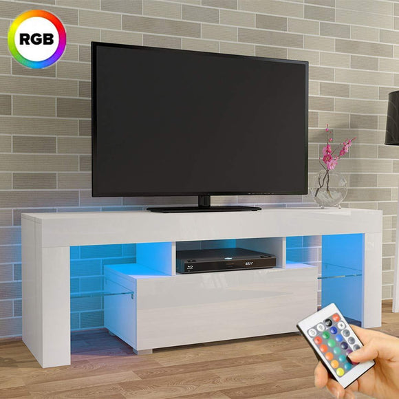 LED TV STAND 130CM - WHITE