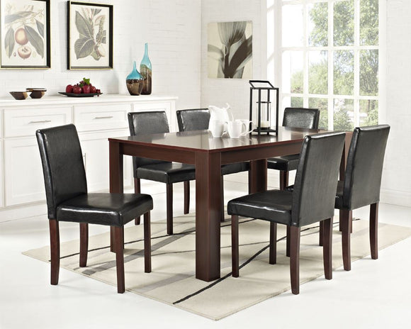 6 CHAIRS WALNUT DINING TABLE