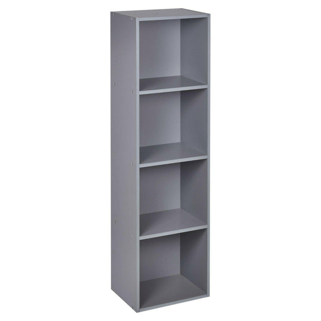 4 Tier Wooden Bookcase – Grey