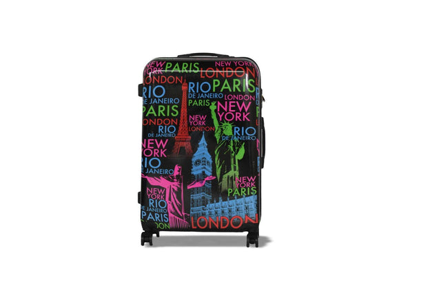 CITIES SUITCASE - BLACK