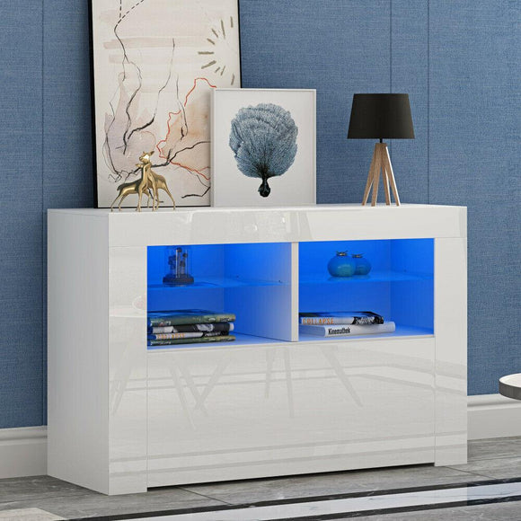 LED TV STAND 100CM - WHITE