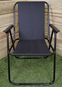 Black Folding Camp Chair