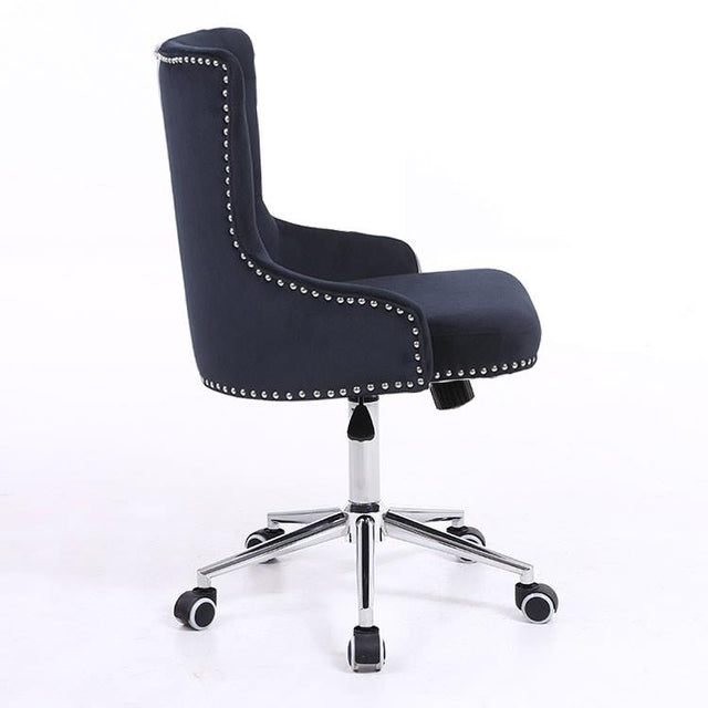 Plush Velvet Button Back Office Chair
